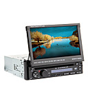 7 polegadas TFT tela 1DIN carro dvd player in-dash com GPS, BT, rds, ipod, tela sensível ao toque