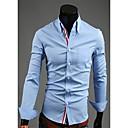Men's Long Sleeve Shirt , Polyester Casual