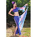 Belly Dance Pretty Flower One Shoulder Polyester Top & Bottom Outfits For Women
