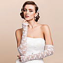 Opera Length Half Finger Glove Lace Bridal Gloves