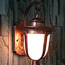 Outdoor Wall Light, une lumière, peinture vintage en verre en aluminium