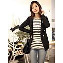 Women's Spring Stripes lange mouwen Bodycon T-shirt