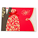 Asian Style Embossed Wedding Invitation-Set Of 50/20
