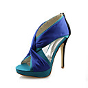 Women's Shoes Platform Stiletto Heel Sandals With Satin Cross Over Knot Party/Evening/Office Shoes