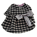Warm Lattice Pattern Coat with Bow for Pets Dogs (Assorted Sizes)