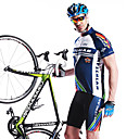 MYSENLAN Men's Cycling Jersey + Shorts Short Sleeve Cycling Suit 100% Polyester Breathable Blue M01047