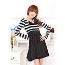 Naisten Black And White Stripe Dress