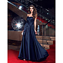 TS Couture® Formal Evening Dress - Dark Navy Plus Sizes / Petite Sheath/Column Sweetheart Sweep/Brush Train Satin