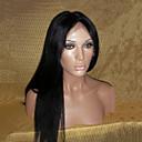 קשרים מולבן תחרת חזית הפאה שיער אדם 20Inch מלזי יקי ישר