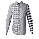 Women's Plaid Blouse , Work Shirt Collar Long Sleeve