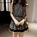 Kvinners Wave Point Chiffon Bodycon Dress