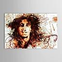 Pintado a mano de pintura al óleo Gente arrugas en la cara con el marco de estirado