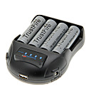 TrustFire 2500mAh 18650 Battery (4 pcs) + TrustFire TR-009 Battery Charger for 14500/18650/16430 (for 4 Batteries)
