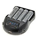 TrustFire 2500mAh 18650 batterij (4 stuks) + TrustFire TR-009 Battery Charger voor 14500/18650/16430 (voor 4 batterijen)
