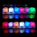 12pcs farveskiftende Ice Cubes LED lys Bryllup Jul Bar Restaurant