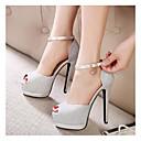Shimandi Sparkling Glitter Women's Stiletto Platform Heels Ankle Strap Sandals Shoes(More Colors)