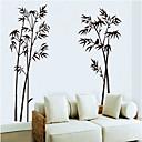 blæk maleri bambus mønster væg sticker (1stk)