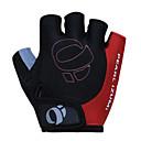 KORAMAN Men's Cycling Gloves Fingerless Black&Red Nylon Bike Bicycle Half Finger Cycling Gloves