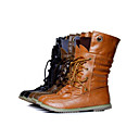 Women's Shoes Combat Boots Low Heel Mid-Calf Boots with Lace-up More colors available
