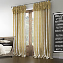 (Two Panels) Neoclassical Floral Polyester Cotton Blend Energy Saving Curtain