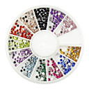 550 pcs Multi-color Glitter  Rhinestone for Tip Nail Art Decoration