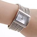 Sølvbånd diamant dekorasjon klokke for kvinner