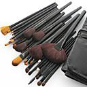 32pcs nuevo negro mango de cepillo del maquillaje del pelo de cabra profesional con funda de regalo