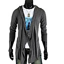 Men's New Hot Fashion No Buckle Asymmetry One Button Long Sleeve Coat