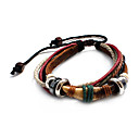 Classic Punk Style Wolf Teeth Leather Bracelet(1 Pc)