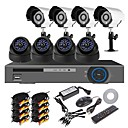 8 Channel 960H Home Security System DVR Kit (8pcs 700TVL IR Cut Indoor/Outdoor Camera, HDMI, USB 3G Wifi)