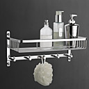 Soap Basket,Contemporary Brass Material Chrome Finish,Bathroom Accessory