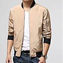 Men's Long Sleeve Jacket , Cotton Blend Casual Pure