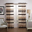 Classic Brown Article Sheer Curtain(Two Panels)