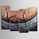 handbemalte abstrakte Ölgemälde mit gestreckten Rahmen - 4 Stück
