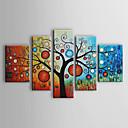 met de hand geschilderde abstracte olieverf met gestrekte frame - set van 5