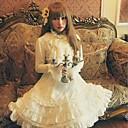 Stand Collar Flare Sleeve White Chiffon Princess Lolita Blouse