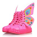 Children's Shoes Round Toe Flat Heel Mid-Calf Boots with Zipper and Lace-up
