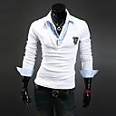 Men's Long Sleeve Hoodie & Sweatshirt , Cotton Blend Pure