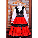 sort&rød cosplay kostume inspireret af Hetalia ungarn Elizaveta national kjole