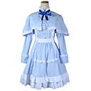 annan misaki mei blå cape klänning cosplay dräkt