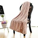 prosty&opulence® pv różowy koc z polaru wzrosła W130 x 150cm (W50 x 60in)