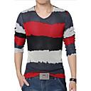 Camiseta De los hombres Casual / Tallas Grandes Un Color - Algodón / Malla / Poliéster - Manga Larga