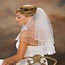 Zweischicht-Hochzeitskleid mit Schleier Wulstbandes Rand mehr Farben