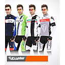 KOOPLUS Men's Winter Cycling Long Sleeve Jersey Tights Fleece Breathable Thermal Cycling Suit with 3D Pad