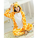 Ihana Kirahvi Keltainen Polar Fleece kigurumi pyjama Cartoon Yöpuvut Animal Halloween Costume