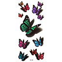 5Pcs Waterproof 3D Series Colorful Butterfly Pattern Tattoo Stickers