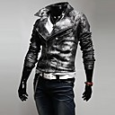 Men Faux Leather/Special Leather Type Outerwear/Top , Without Lining