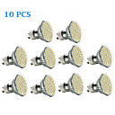 10 pcs GU10 2.5 W 60 SMD 3528 240 LM Warm White / Cool White Spot Lights AC 220-240 V