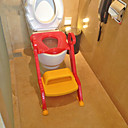 Childrens Toilet Potty Training Chair Step Up Ladder Seat,Traditional Plastic Red