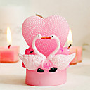 Romantic Creative Swan Heart-shaped Pink Wedding Candle